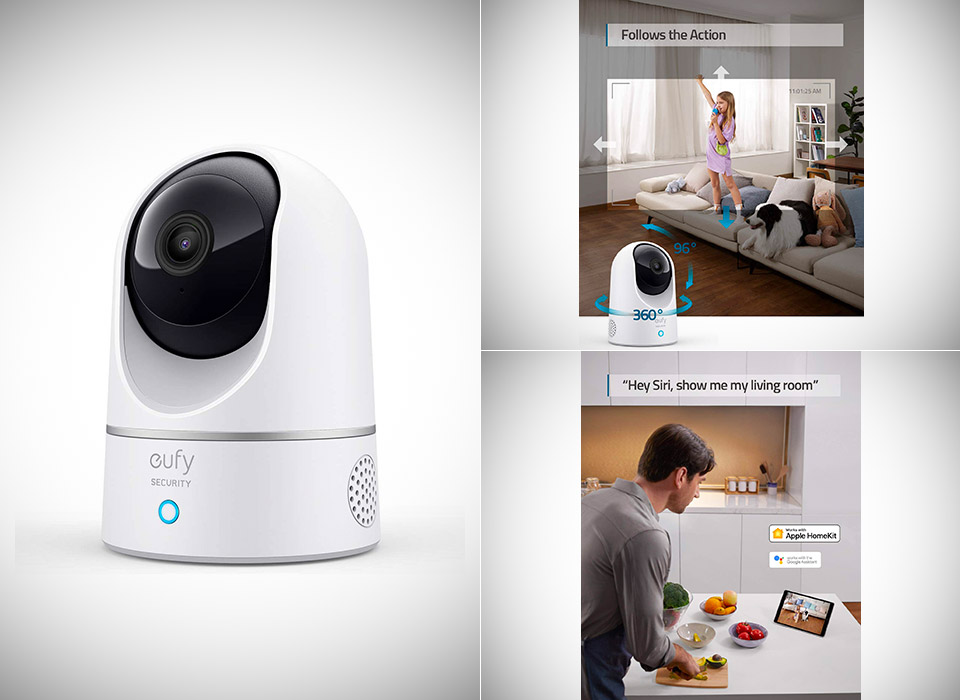 Eufy Security 2K Indoor Pan Tilt Camera
