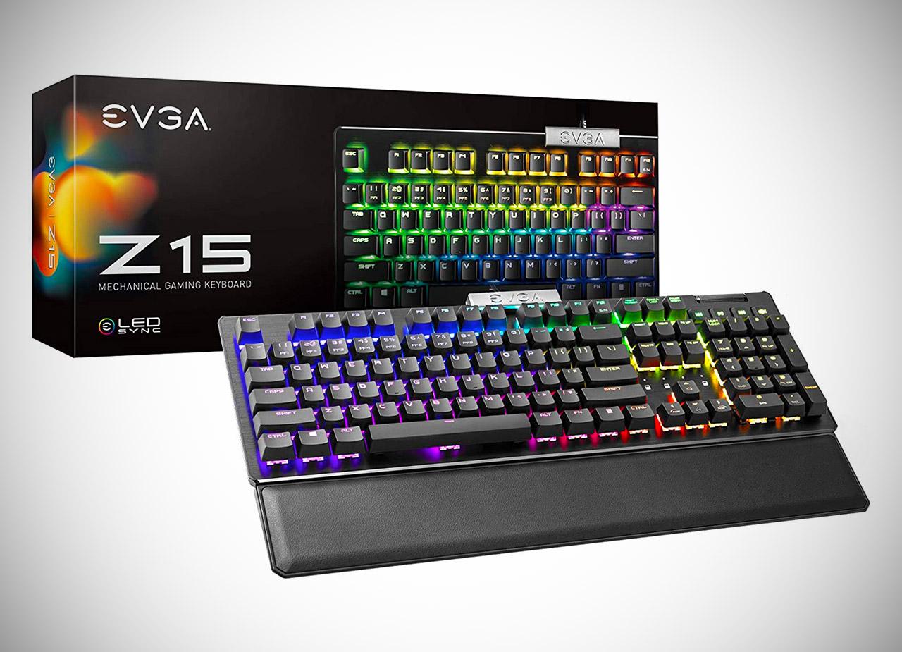 EVGA Z15 RGB Gaming Keyboard Kaihl Switches