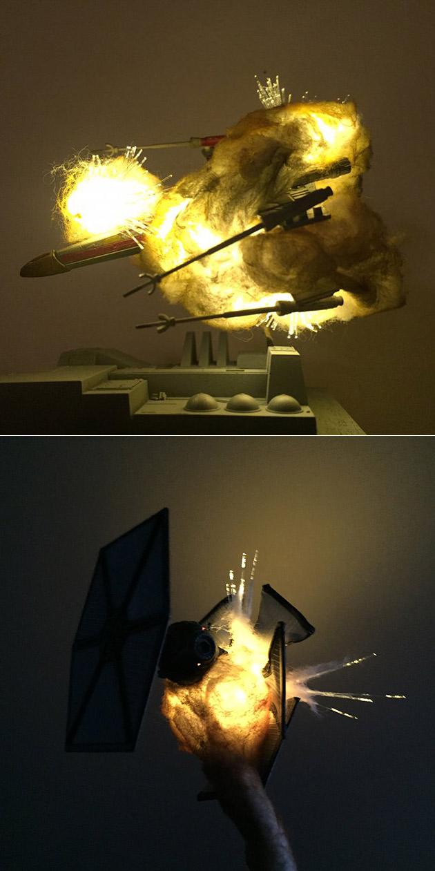 Exploding Star Wars Ships