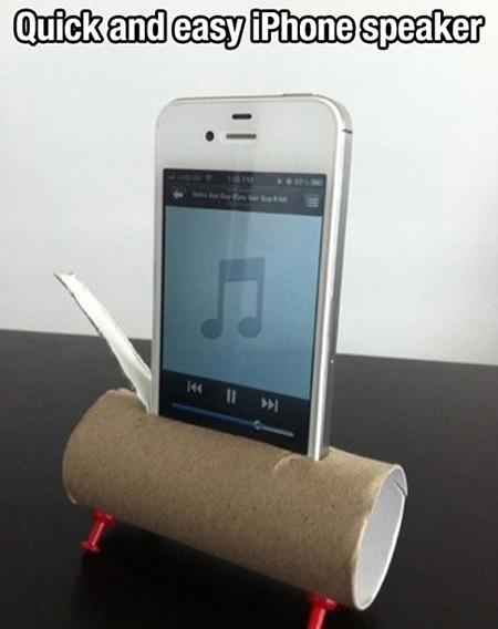 Phone Speaker Extremely-useful-life-hacks
