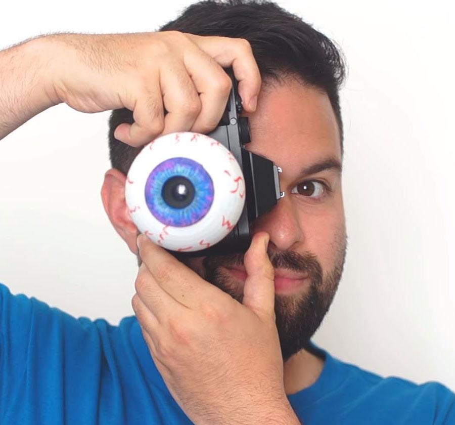 Eyeball Camera Lens