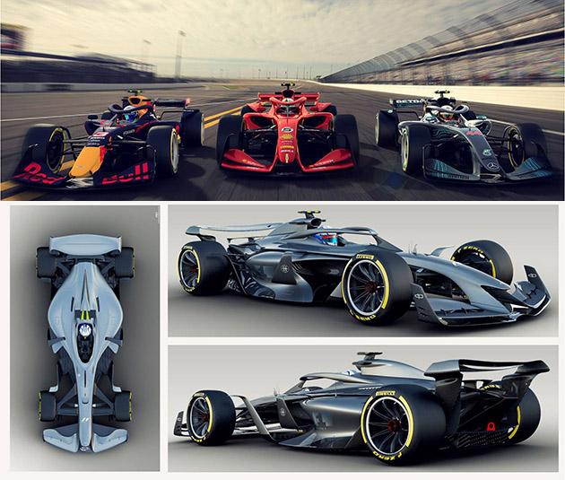 Leaked Concept Vision Images Show How Formula 1 Cars Might Look in 2021