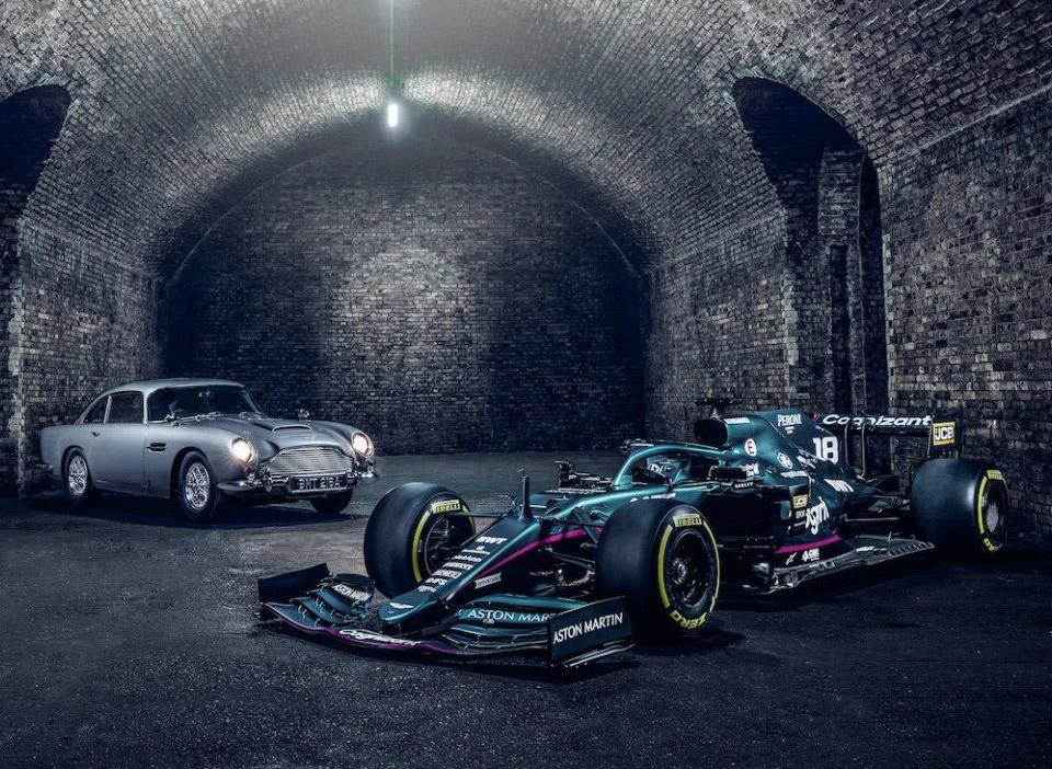 F1 Sebastian Vettel Lance Stroll James Bond No Time to Die Aston Martin