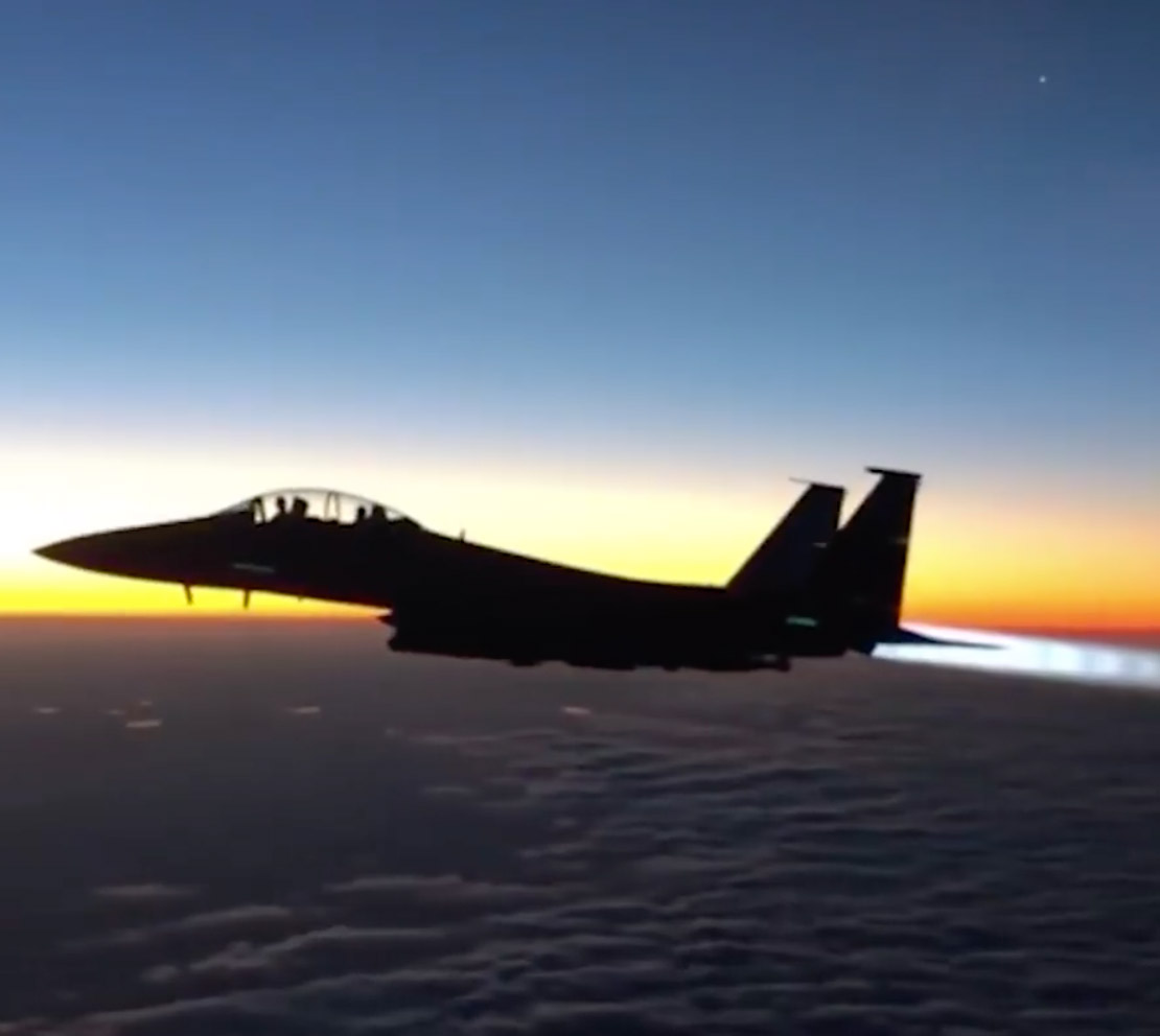 F-15 Fighter Jet Sunrise
