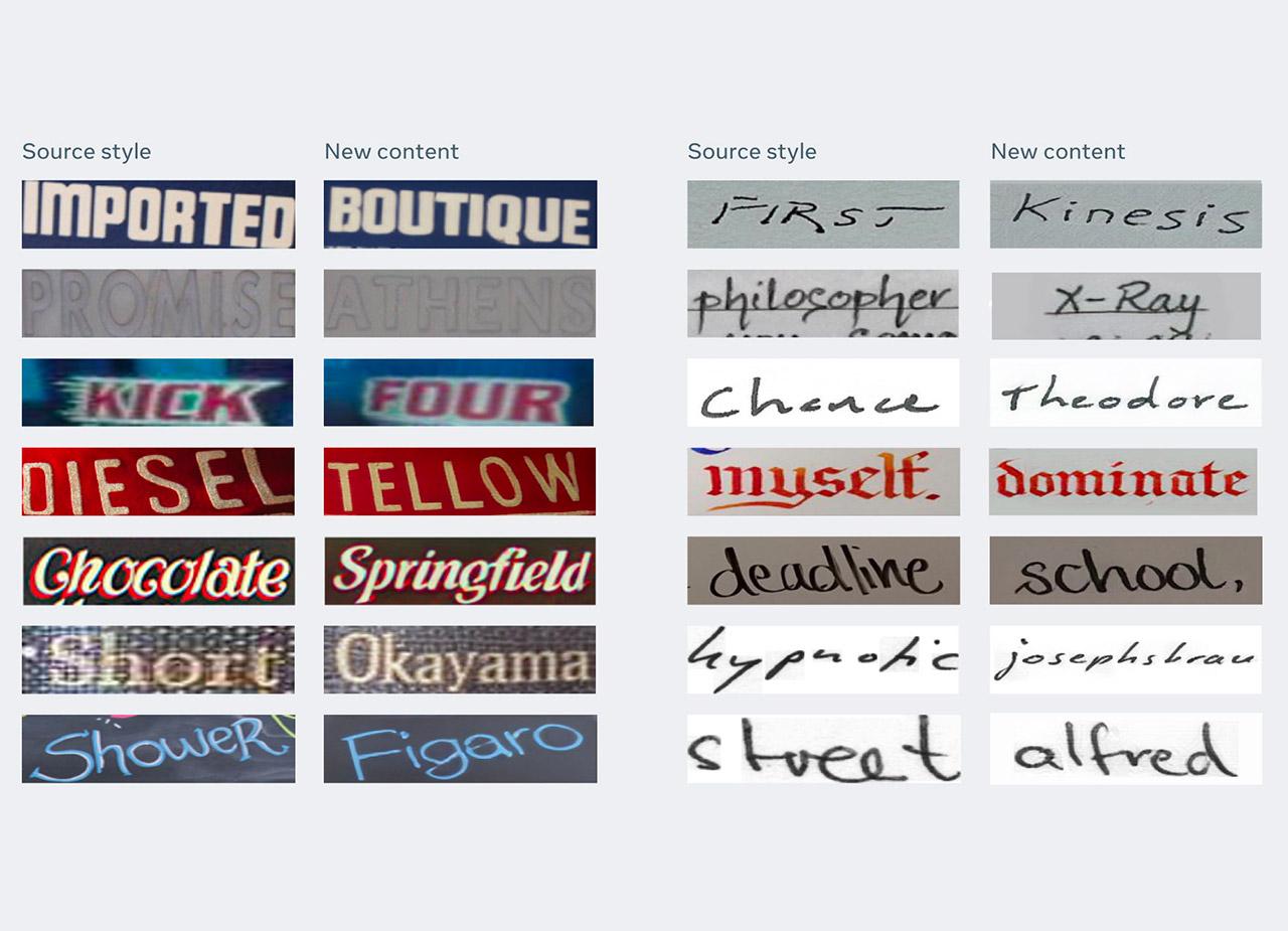 Facebook AI TextStyleBrush Handwriting Style Single Word