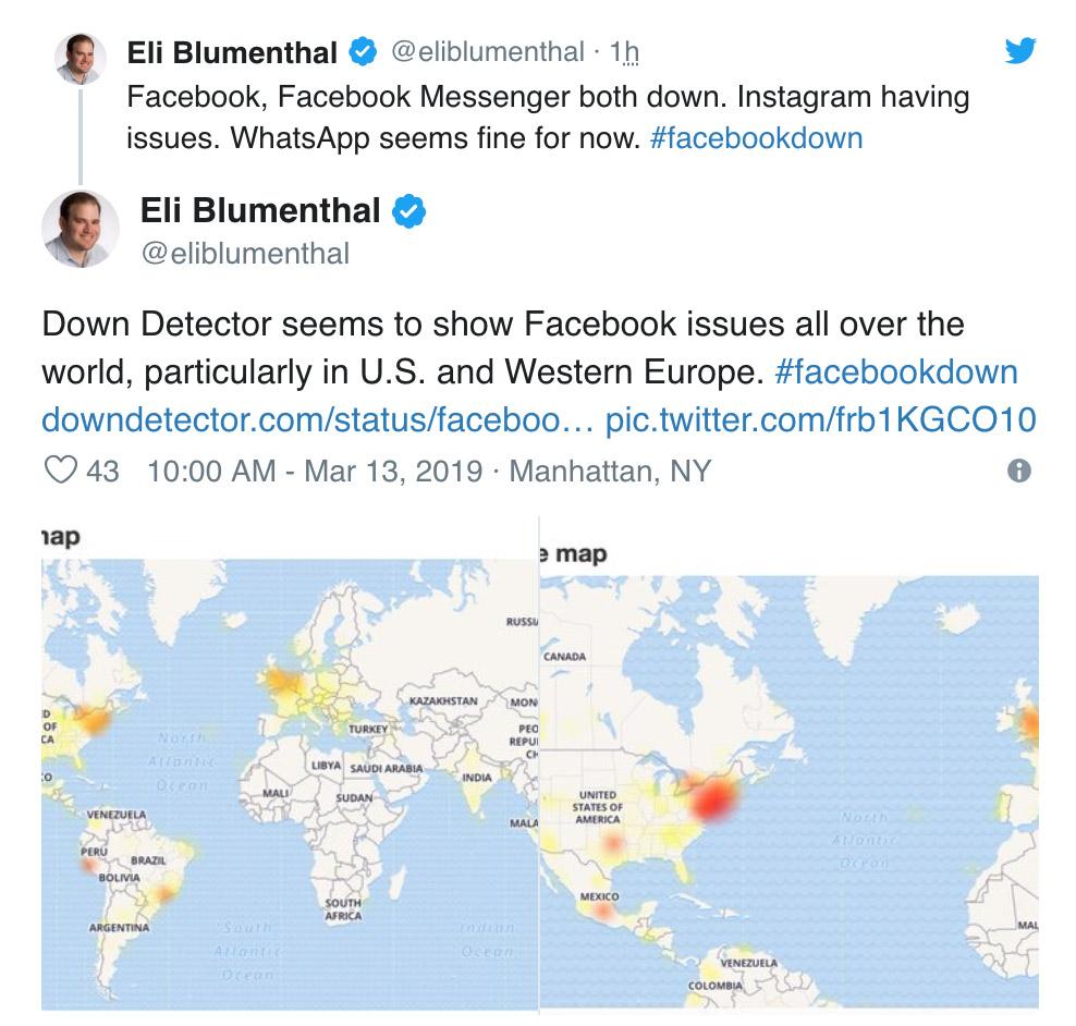 Facebook Instagram Outage