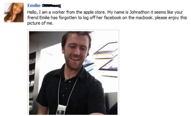 Facebook Log Out Fail