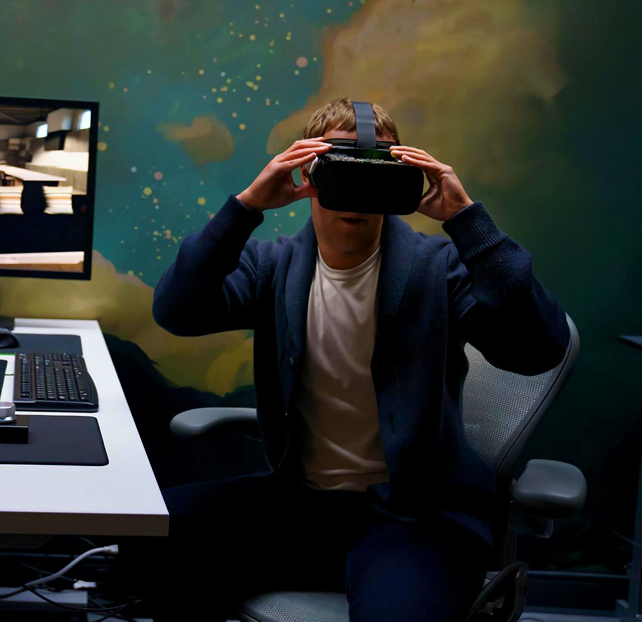 Facebook Virtual Reality Headset Prototype Oculus VR