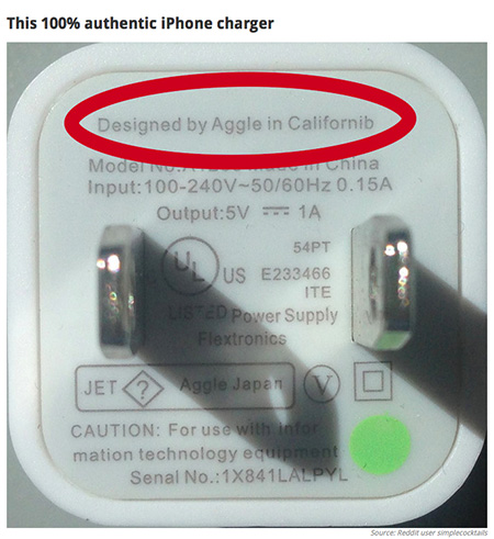 Fake iPhone Charger
