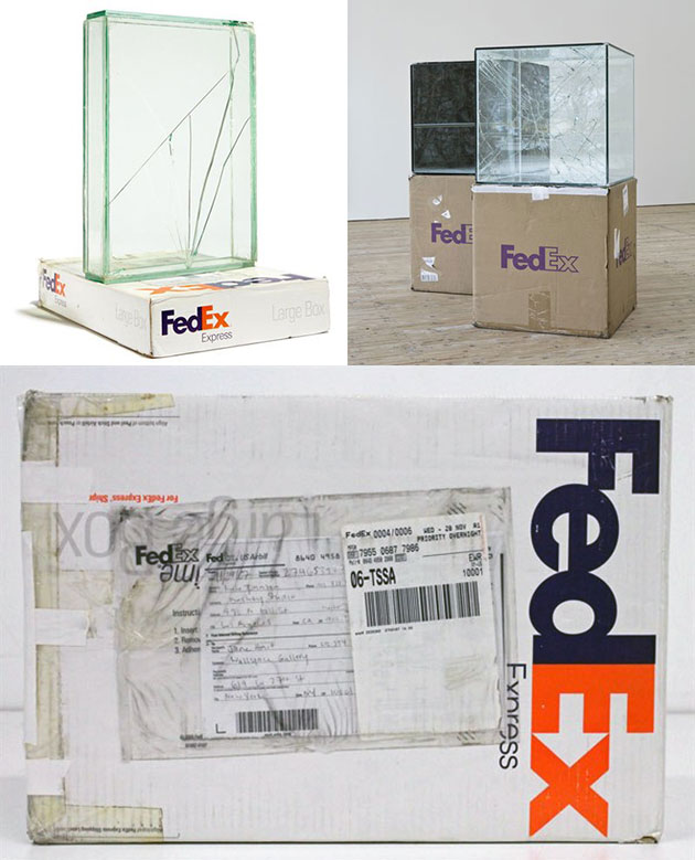 Glass FedEx Packages