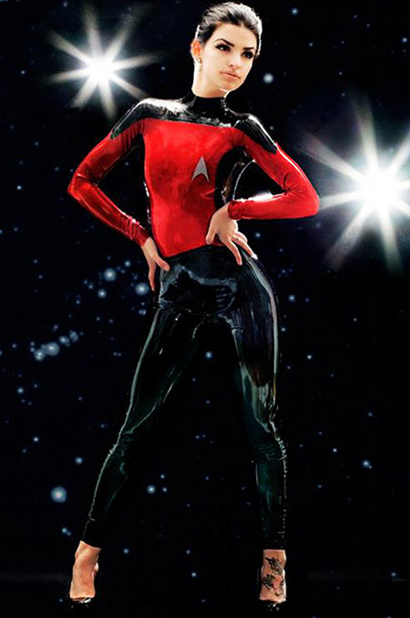 Itu0027s not everyday that you see someone wearing a Star Trek costume much less an officially licensed female outfit. Thanks to Poison Candy Latex ...  sc 1 st  TechEBlog & Company Unveils Geeky Female Star Trek Costumes - TechEBlog