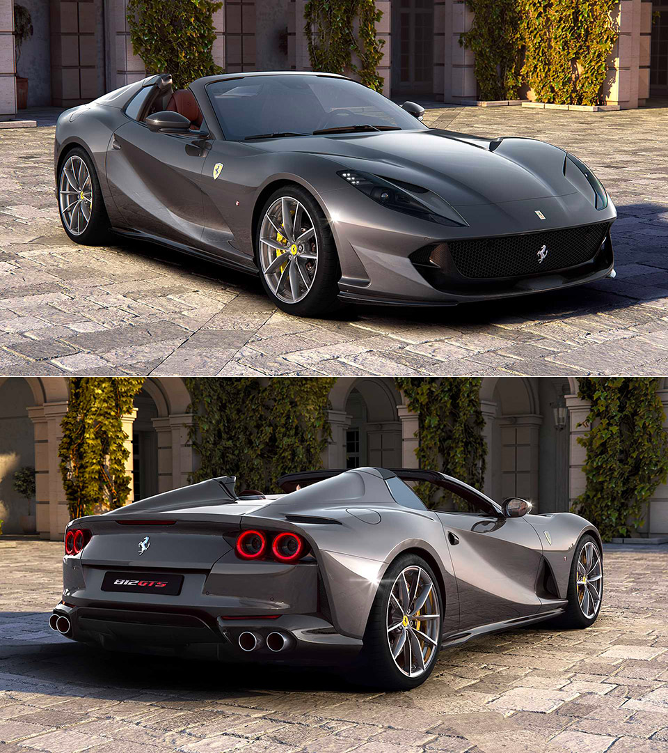 Ferrari 812 Superfast: Ferrari 812 GTS Is Most Powerful Production Convertible In