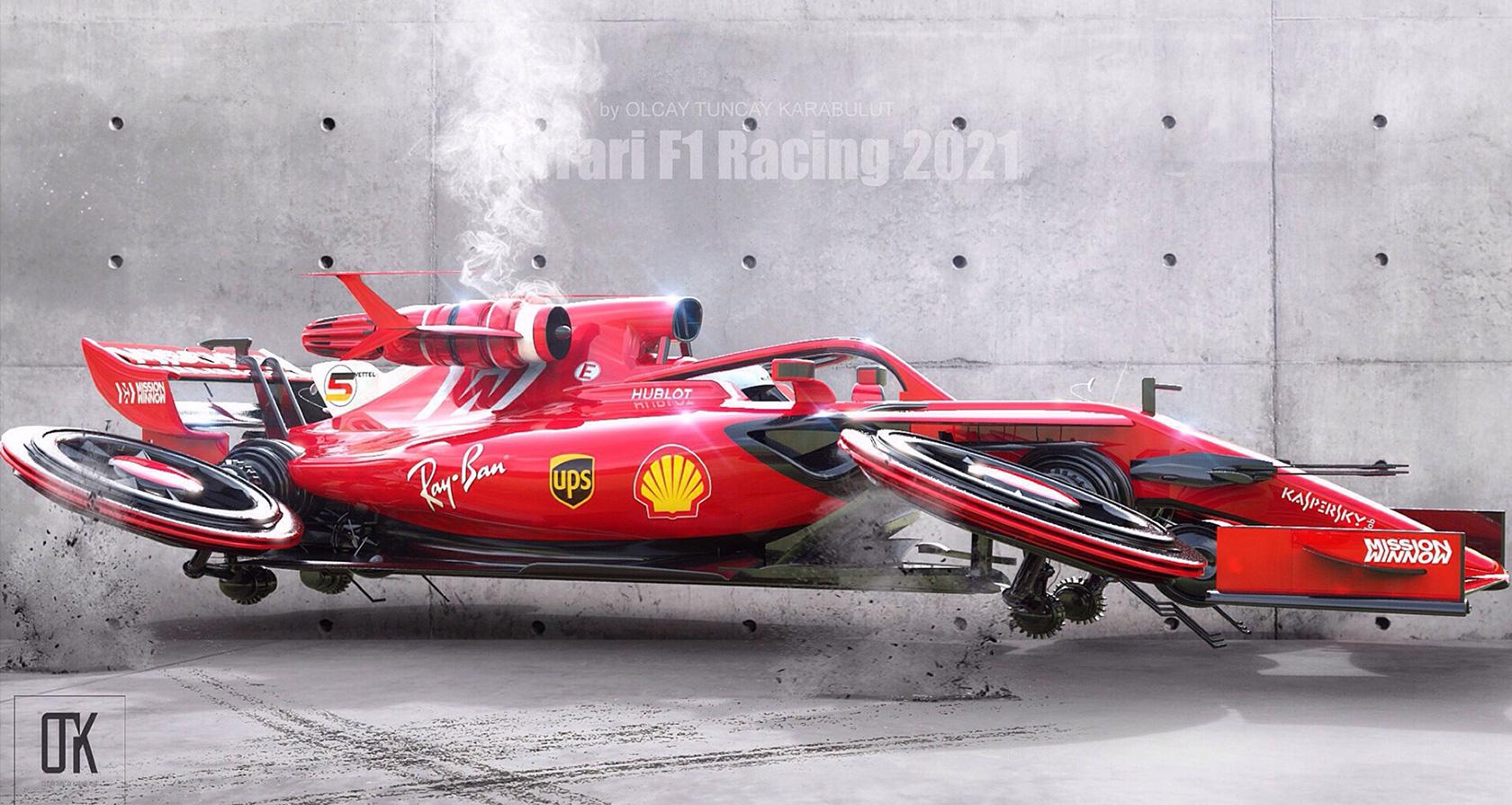 Ferrari F1 Landspeeder