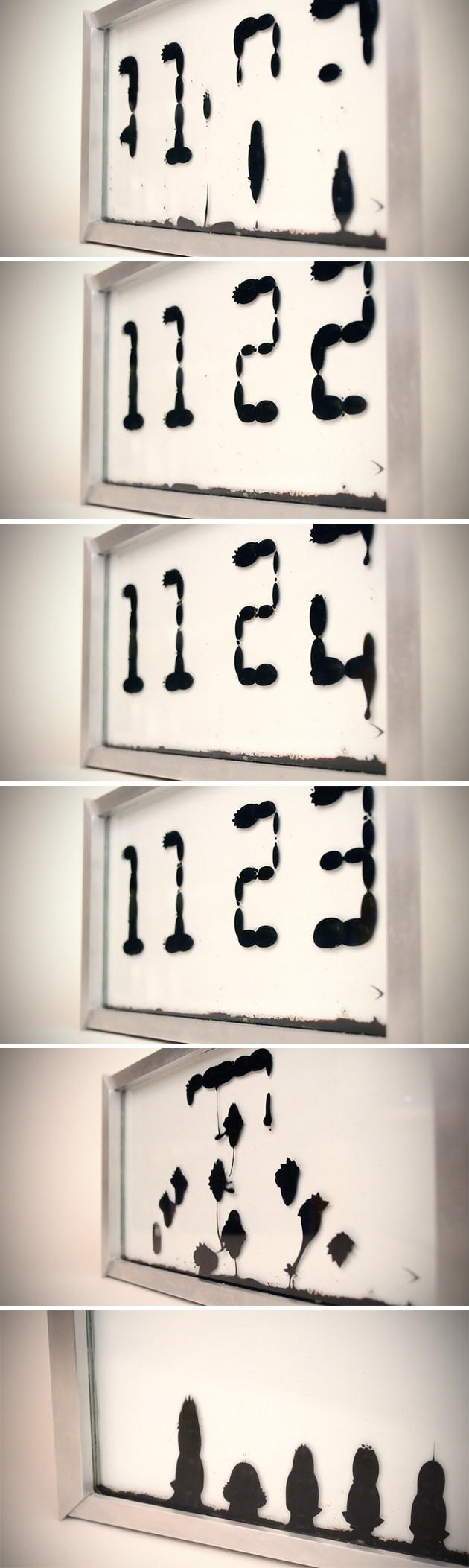 Ferrofluid Clock