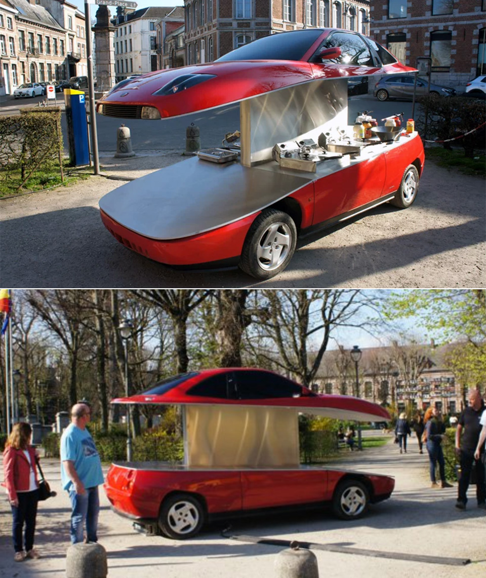 Fiat Coupe French Fry Cart