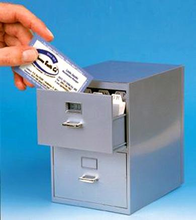filing cabinet business card holder techeblog