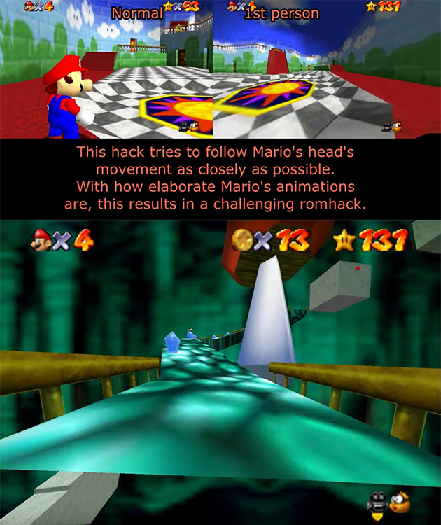 First Person Mario 64 Hack Takes You On a Dizzying Adventure Through