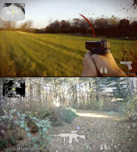 games first person shooter real life game