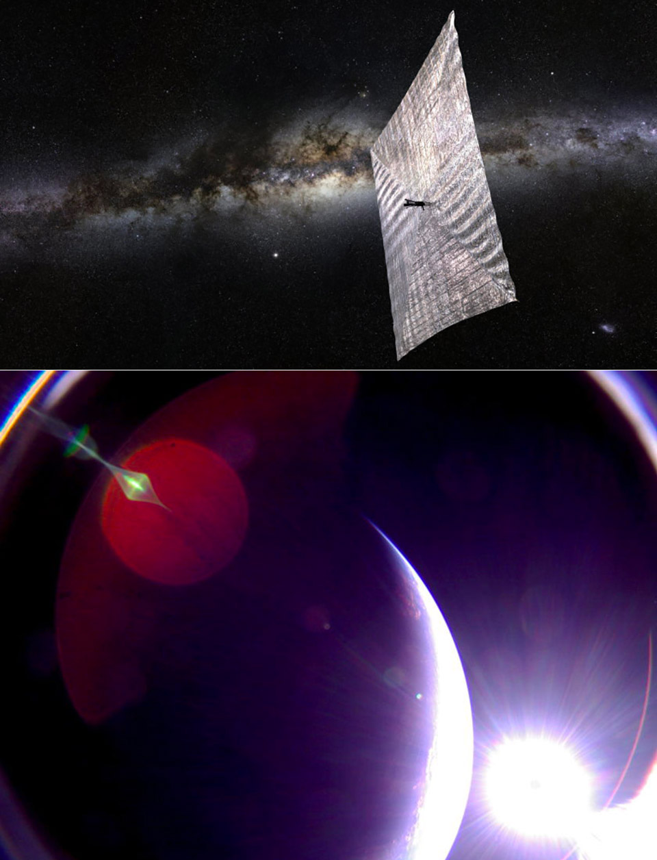 Pictures Captured by LightSail