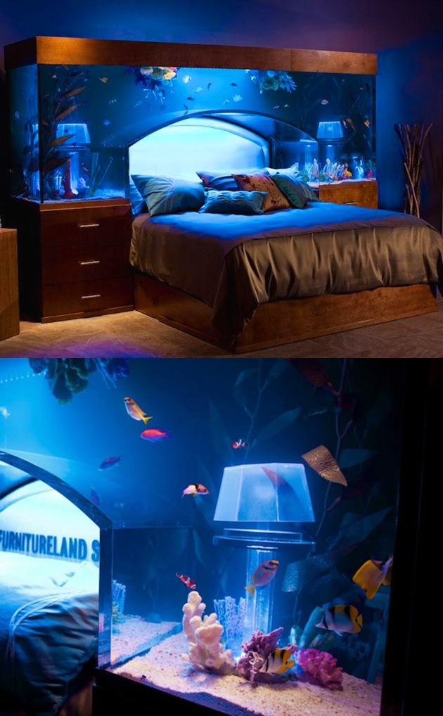 Fish Tank Aquarium Bed