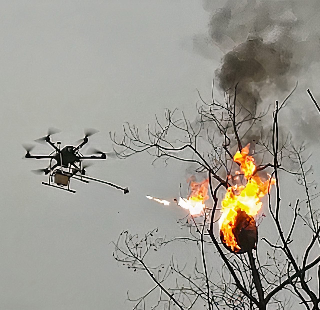 Flame-Throwing Drone Wasp Nest