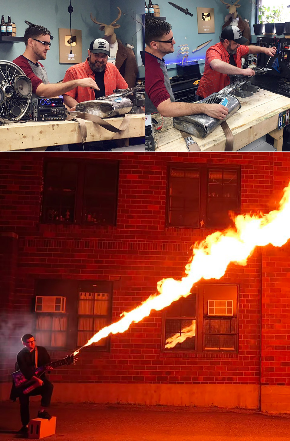 Flame Throwing Electric Guitar