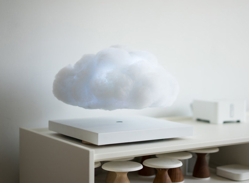 Your Eyes Aren't Playing Tricks, This Floating Cloud is a Real Levitating Lamp