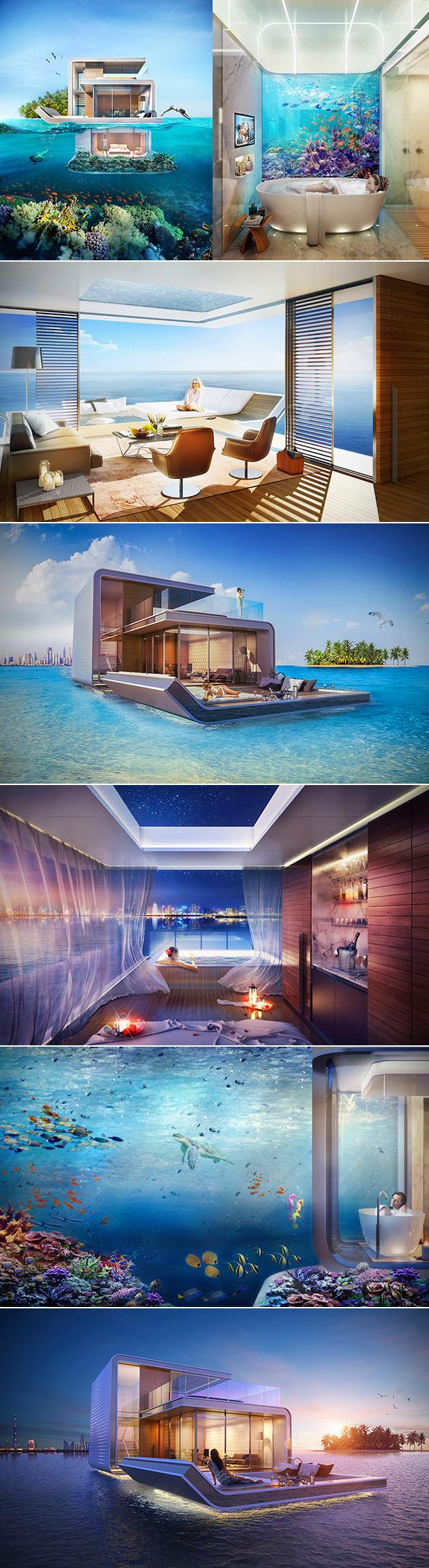 Floating Villa Underwater Bedroom
