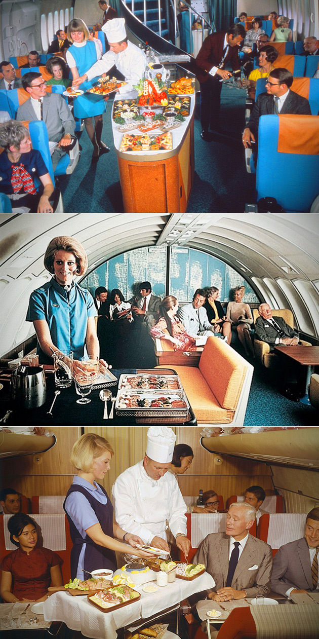 Flying Airplane 1960s 1970s