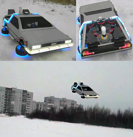 Real Life Back To The Future Flying DeLorean Spotted