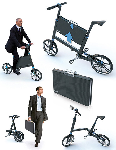 How about a bicycle that folds up into a suitcase when not in use? Introducing the Briefcase Bike. This nifty gadget looks like any other briefcase when ...