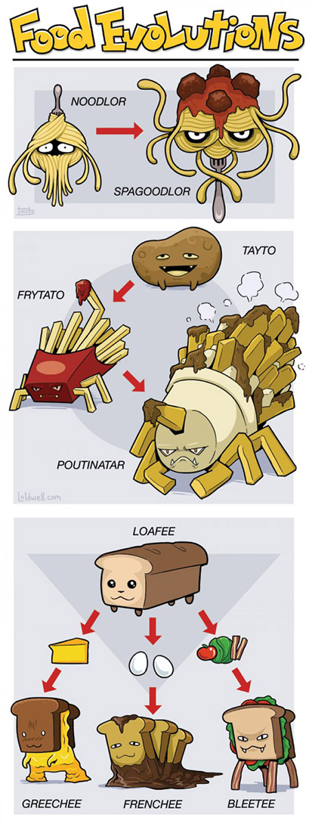 If everday foods were pokemon this is how they 39 d evolve for Pokemon cuisine