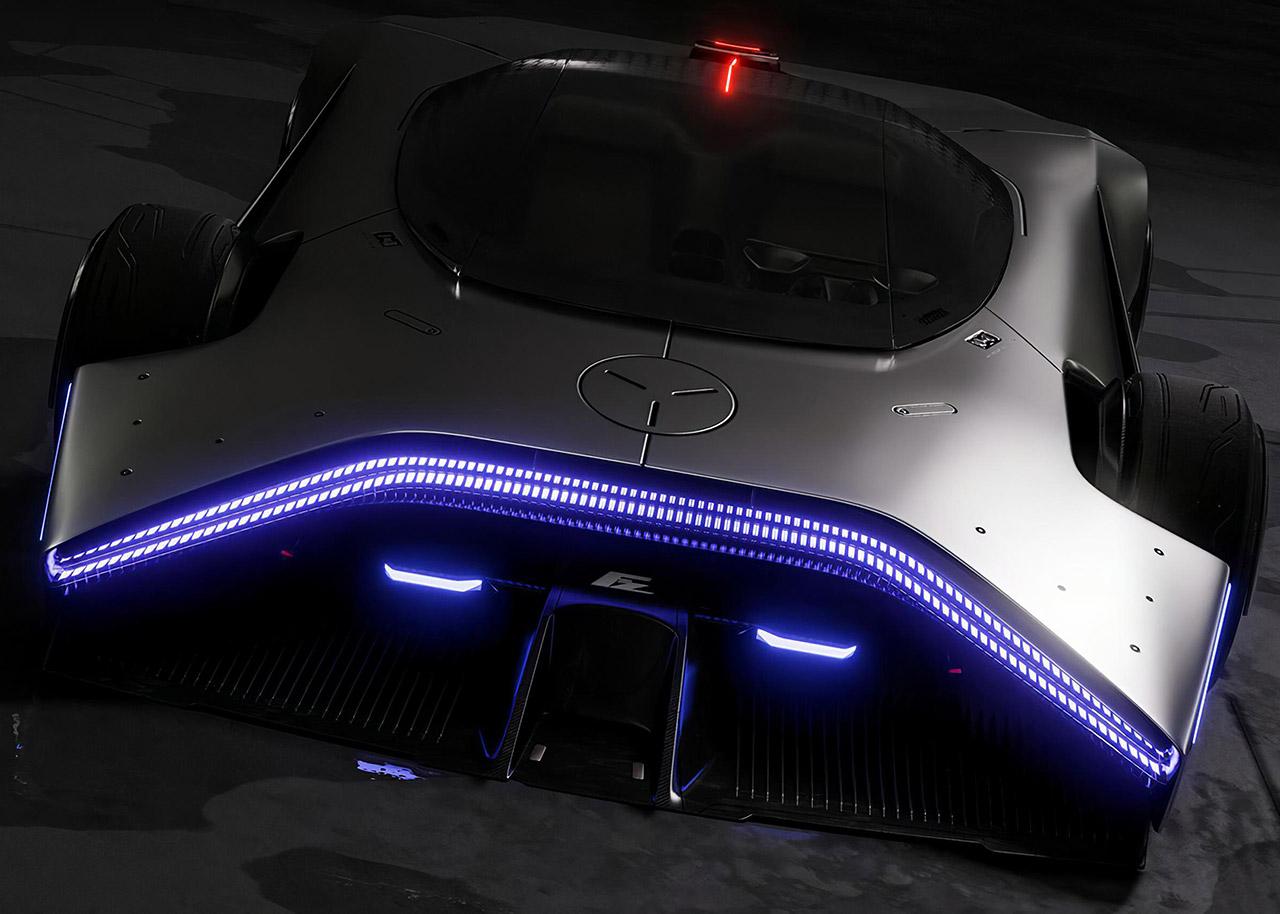 Ford Dystopia Supercar Cyberpunk GT90