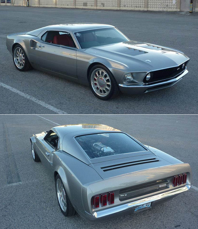 when mustang mach 1 meets gt40 you get the stunning ford mach 40 techeblog. Black Bedroom Furniture Sets. Home Design Ideas