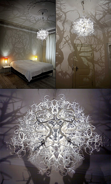 Creepy Chandelier Lamp Turns Your Room Into A Shadowy