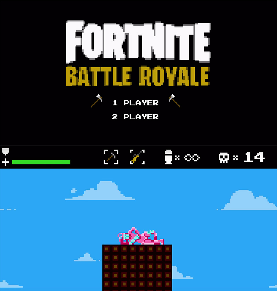 Fortnite Battle Royale Game 8-Bit