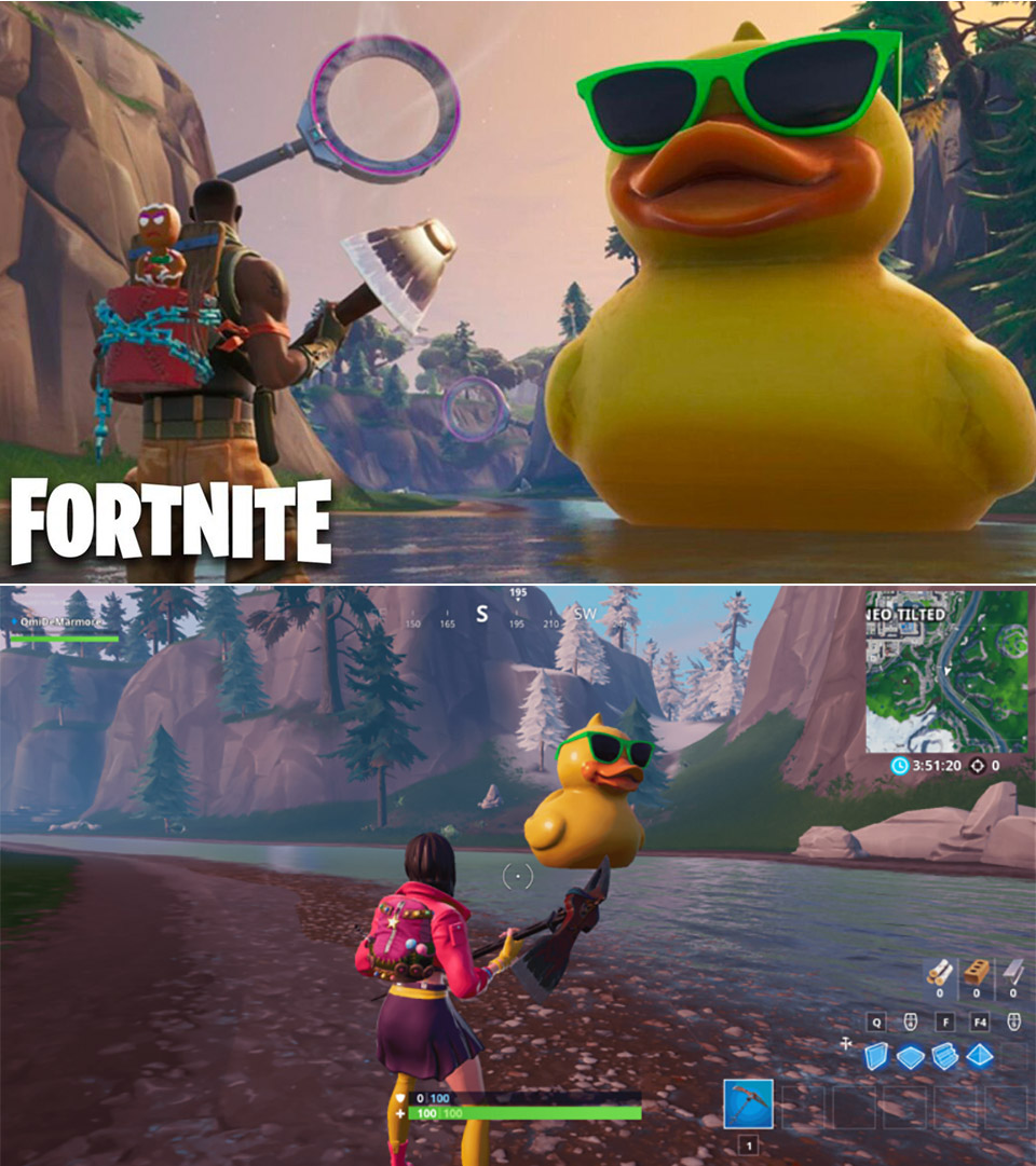 Fortnite Huge Rubber Duck Giant Beach Umbrella