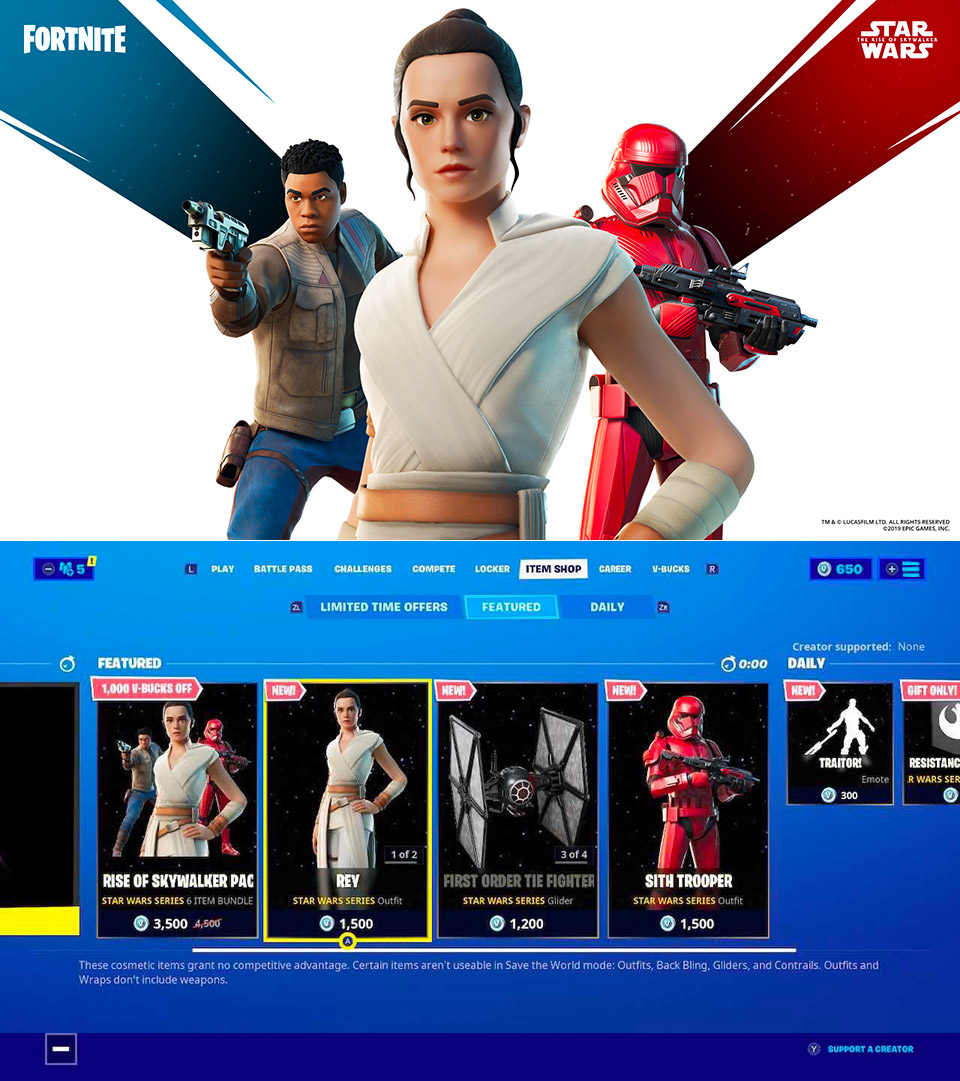 Fortnite Rey Finn