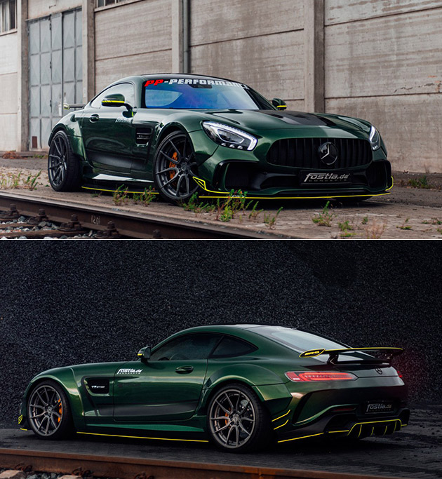 Fostla Mercedes-AMG GT S Gets Sleek Green Makeover with 20-inch ADV.1 Wheels