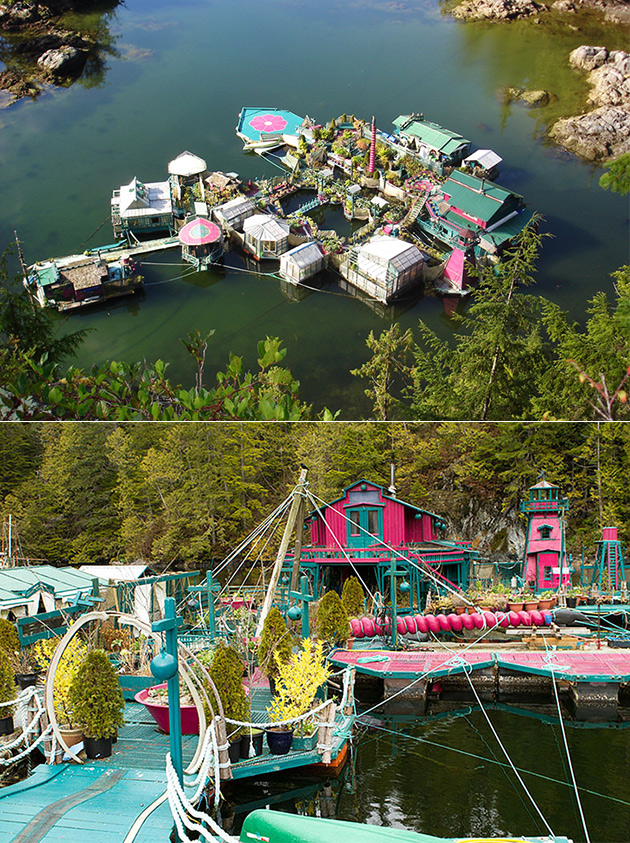 Liberté Cove est une île artificielle construite par un Couple de Canadiens, ressemble comme un parc à thème