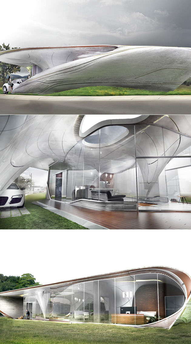 Freeform 3D-Printed House