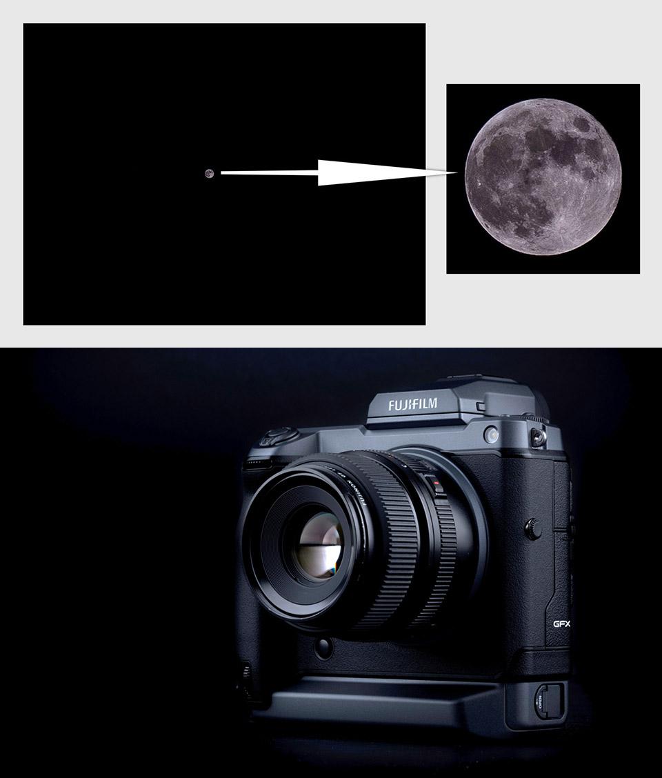 Fujifilm GFX100 Moon