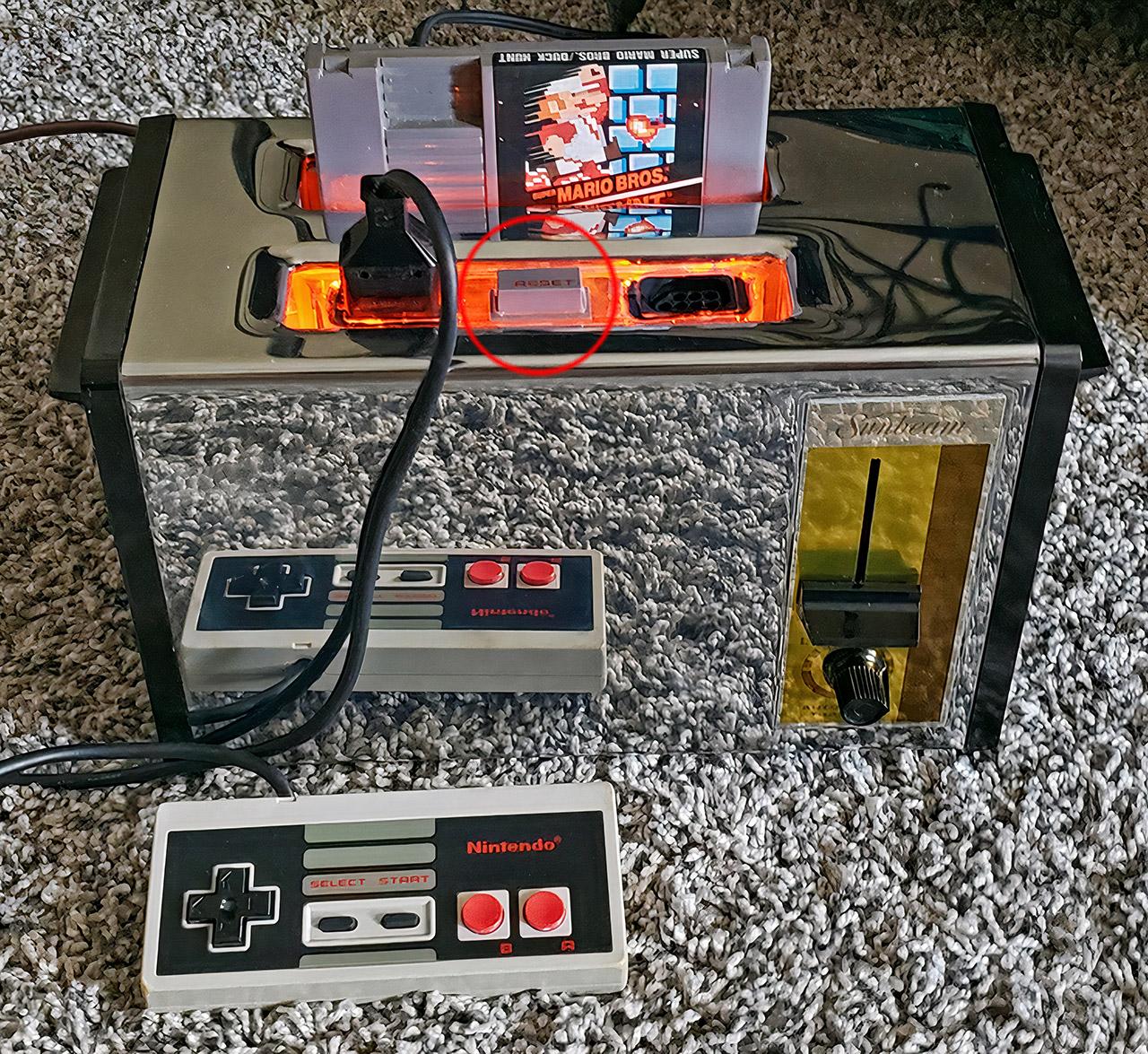 Functional Nintendo Entertainment System NES Toaster
