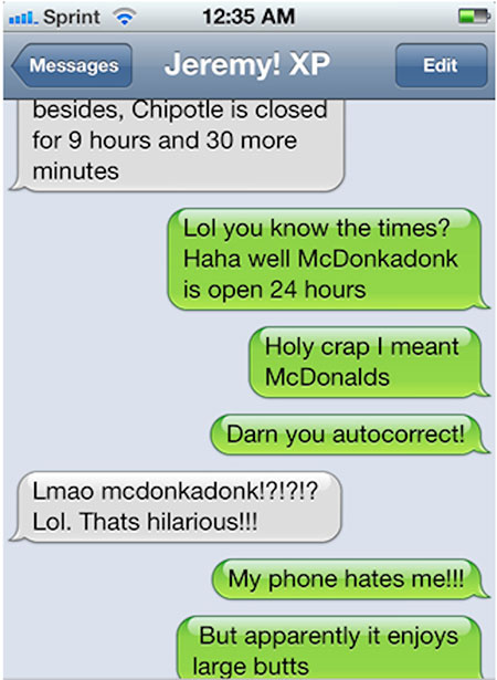Top 10 funniest autocorrect text messages of 2012
