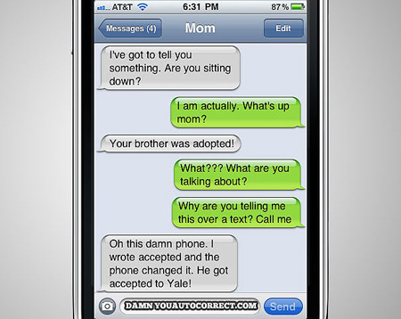 Funniest Autocorrect Messages of 2011