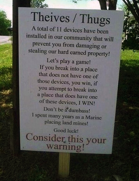 18 Funny And Creative Anti Theft Signs Made By Geeks