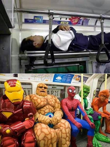 20 Pessoas estranhas, que você não vai acreditar que foram vistas no metrô