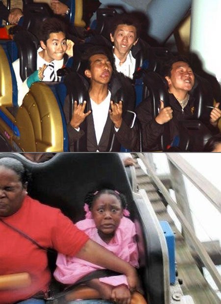 Funny Roller Coaster Pictures Captured At The Right Moment