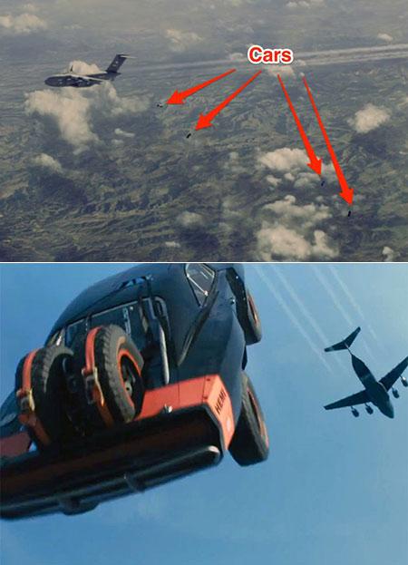 Furious 7 Plane Drop