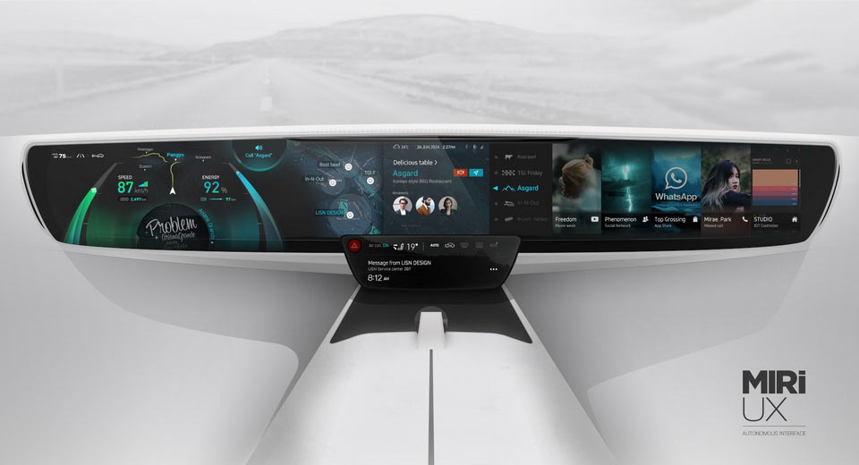 MIRi UX Shows What a Futuristic Car Dashboard Could Look Like, Includes Your Favorite Apps